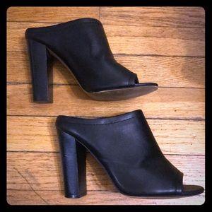 Women's Mule Shoes - Black